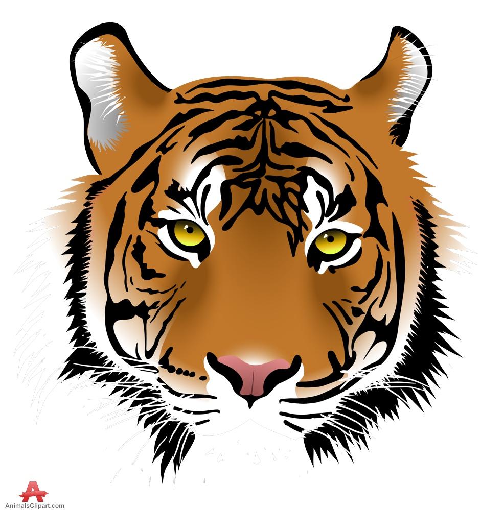 Tiger Face Clip Art