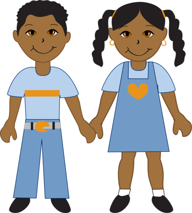 African American Boy And Girl-African American Boy And Girl-5