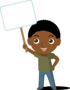 African American Boy Clipart