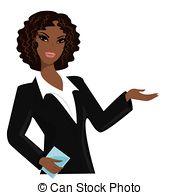 ... african american business woman,cartoon vector illustration