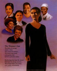 African American Christian Clip Art Art -African American Christian Clip Art Art Print The Woman I Am By-4