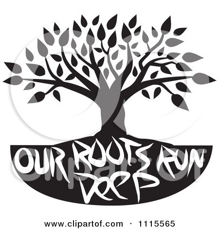 African American Family Clip Art | Clipart Black Tree Over We Are Family Text - Royalty Free Vector ... | mantra | Pinterest | Trees, Reunions and Family ...