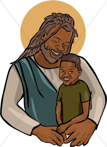 African American Jesus With Child-African American Jesus with Child-0