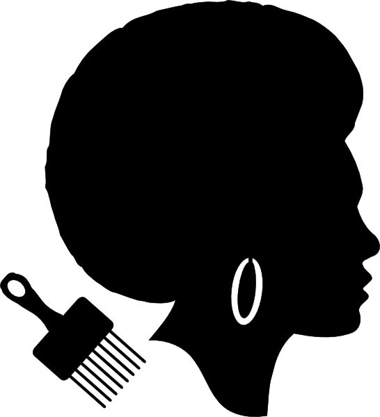 African American Religious Clip Art | African American Afro Woman clip art - vector clip art