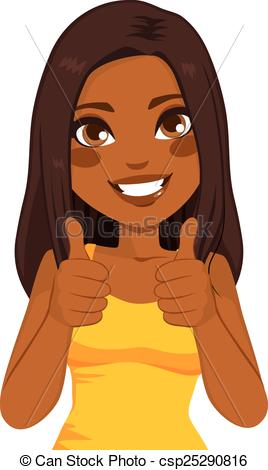 African American Thumbs Up ..