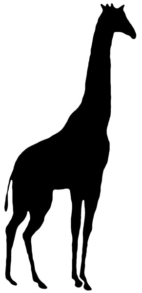 African Animal Silhouette Clipart; Animal Silhouette Silhouette Clip Art ...