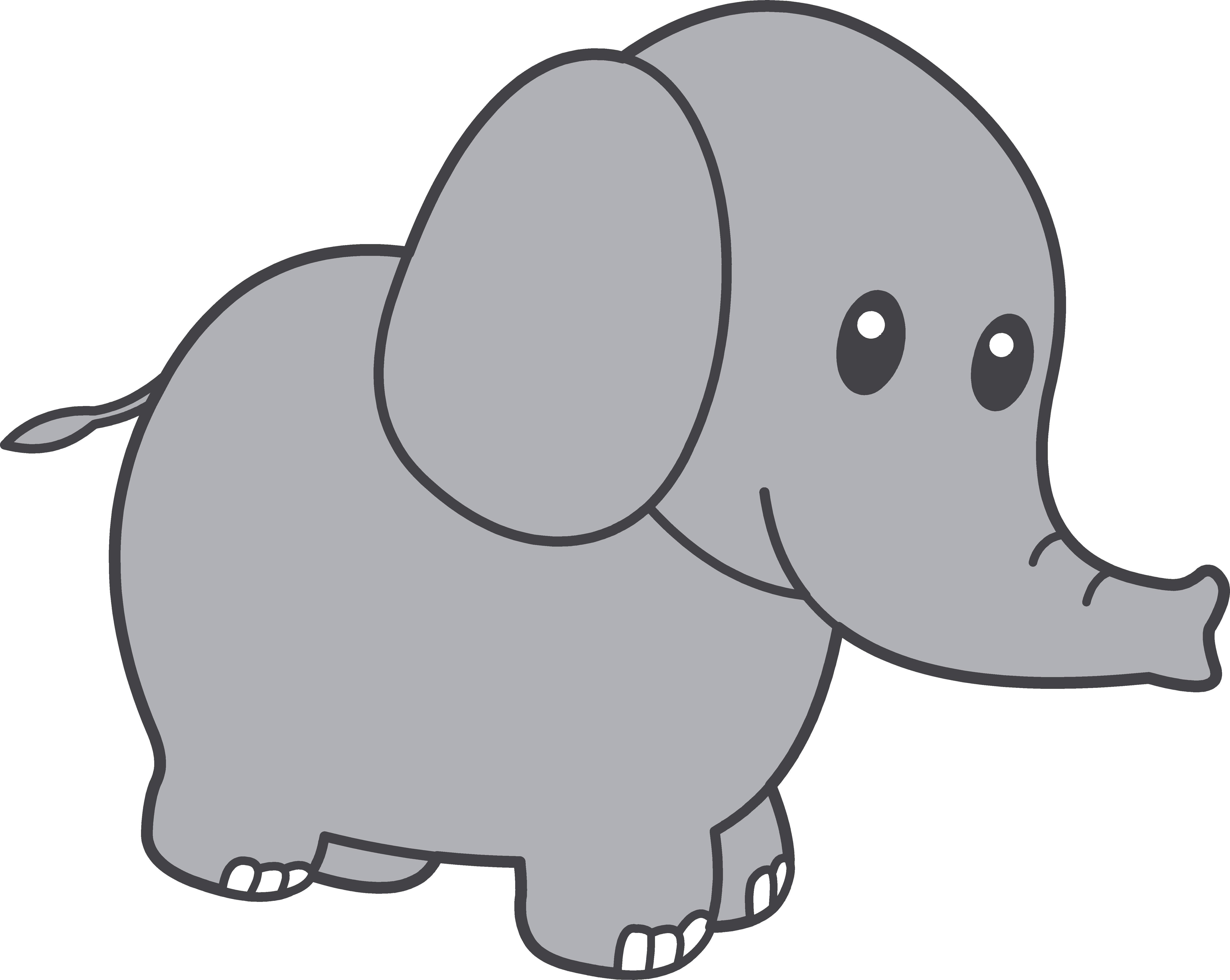 Cute Elephant Clipart