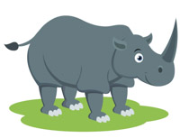 African Gray Rhinoceros Clipart Size: 52 Kb