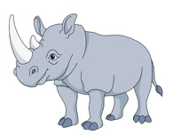 african rhinoceros clipart. Size: 45 Kb