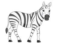 african zebra clipart. Size: 48 Kb