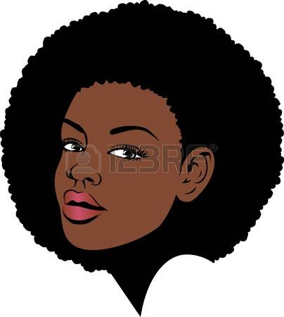 Afro: Afro Lady Face Illustration Illust-afro: afro lady face illustration Illustration-2