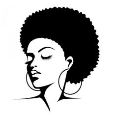 Afro Silhouette Clip Art ..
