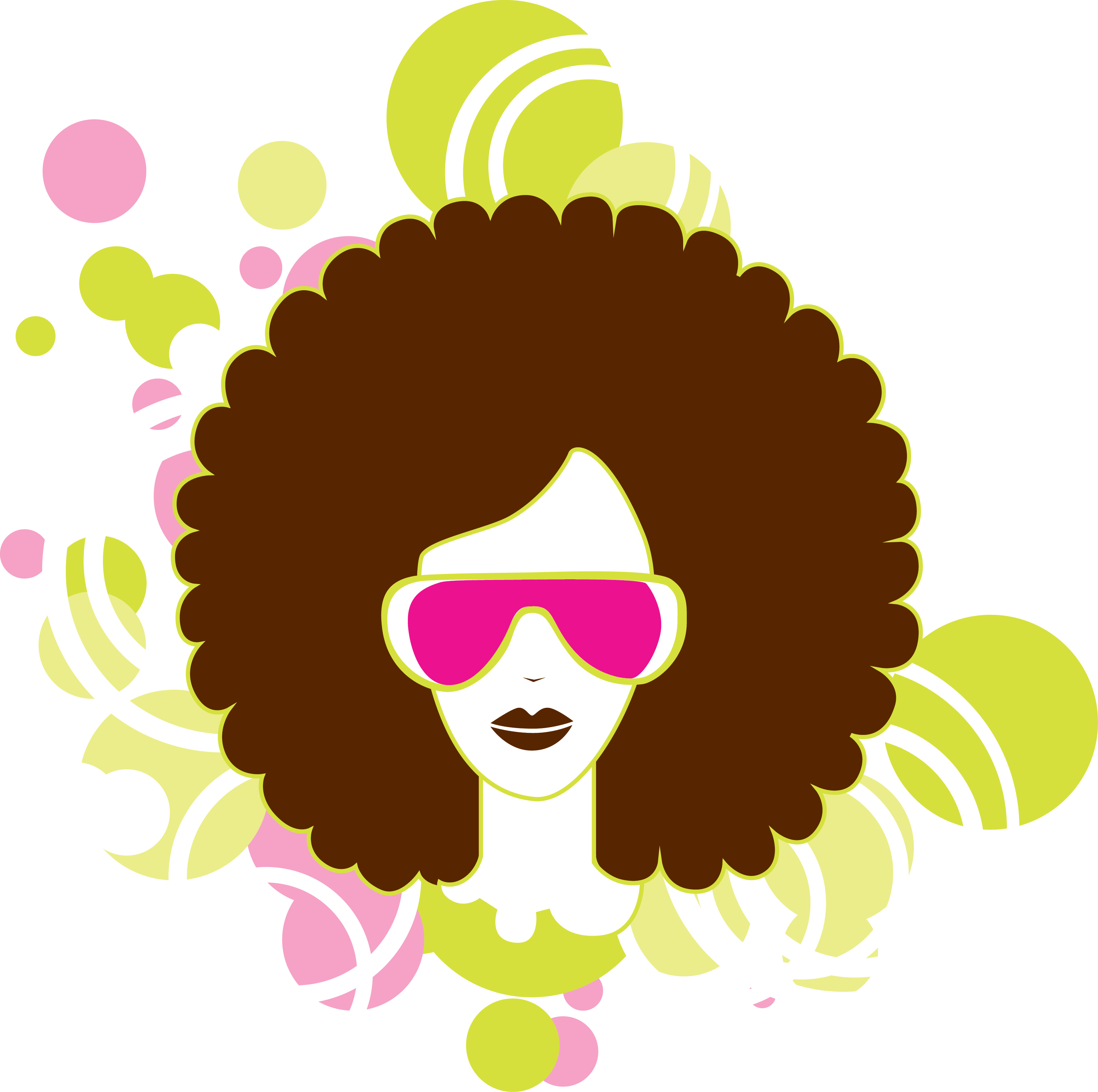 Afro Silhouette Vector.