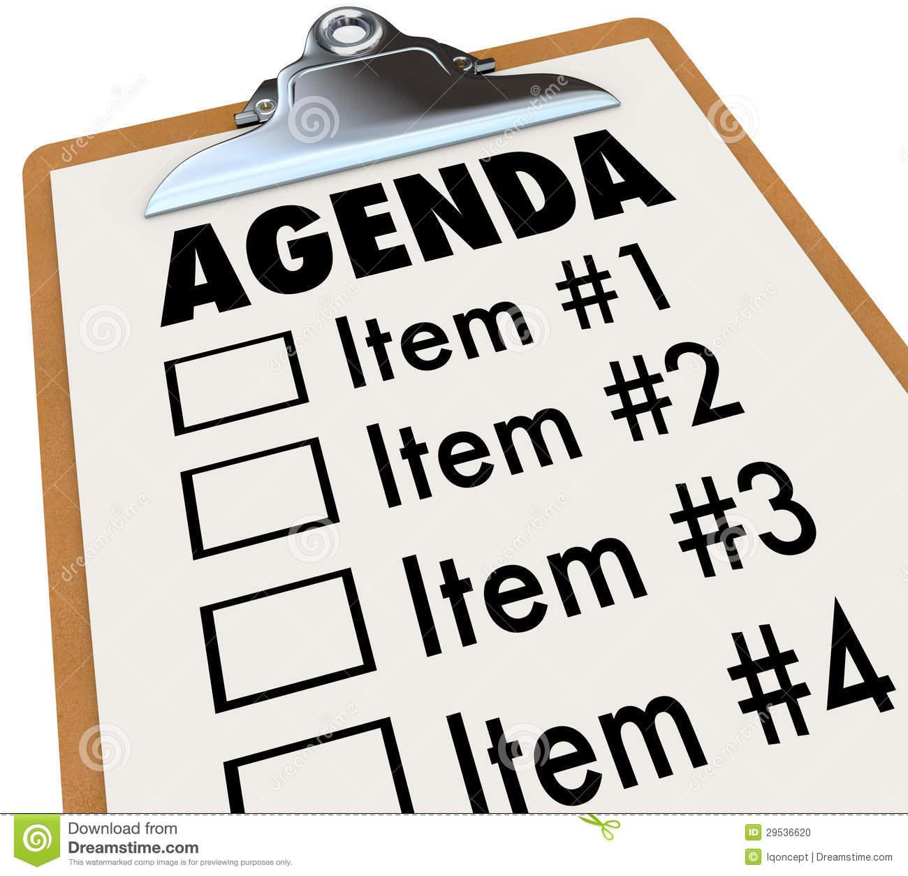 Agenda Clipart