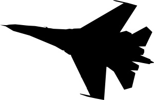 Air Force Jet Clip Art. Airplane Fighter Silhouette .