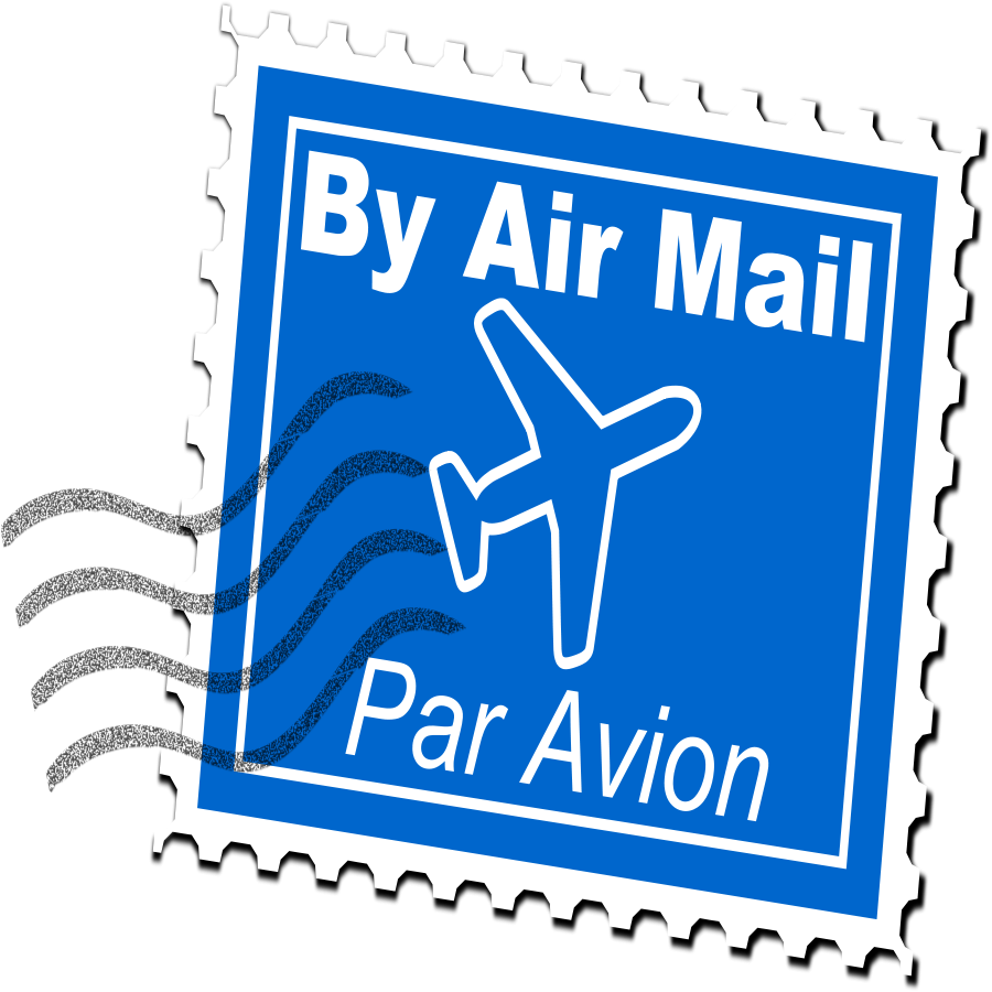 Air Mail Postage Stamp Clipart Vector Clip Art Online Royalty