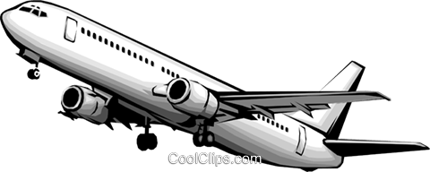 Airbus Royalty Free Vector Clip Art illustration