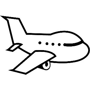 Aircraft Clipart Diecut Decal - Airplane Clipart Black And White