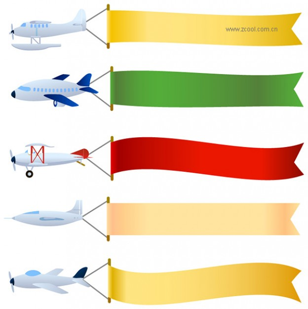 airplane with banner clipart-airplane with banner clipart-5
