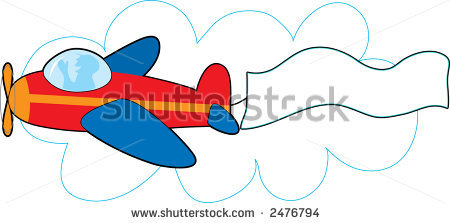 airplane with banner vector-airplane with banner vector-10