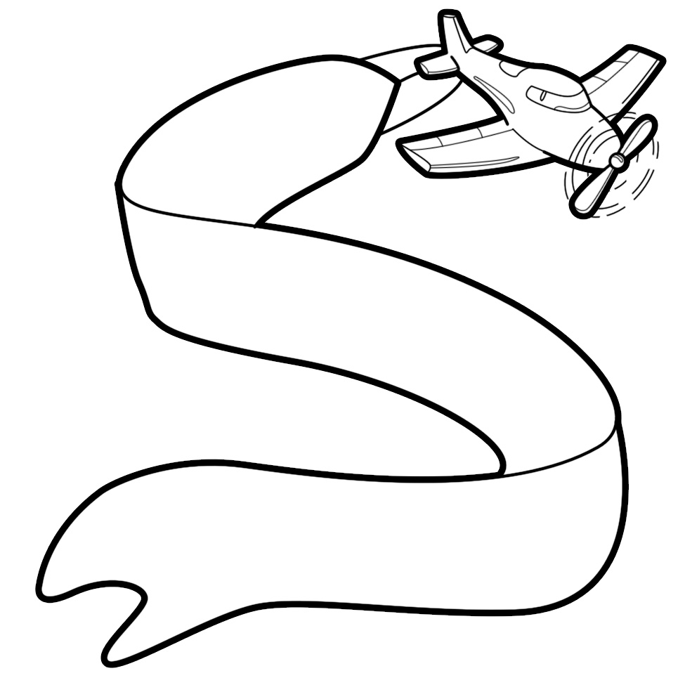 airplane with banner vector-airplane with banner vector-11