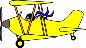 Airplane Cartoon Clip Art | B