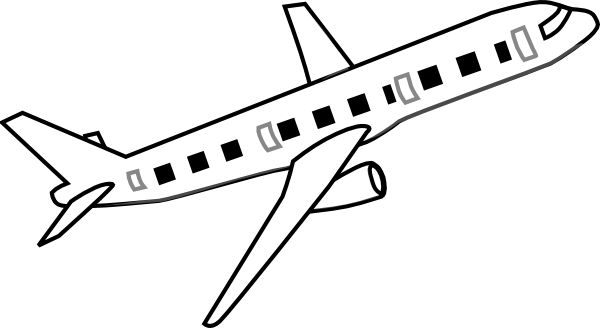 Airplane Clip Art At Clker Co - Airplane Clipart Black And White