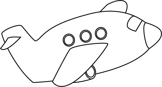 Airplane clipart black and white clipartion com 2