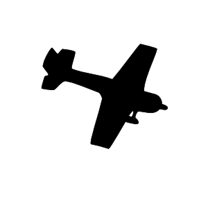 Airplane clipart black and white take off free
