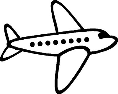 Airplane clipart...The simple silhouette would be great for using a projector to