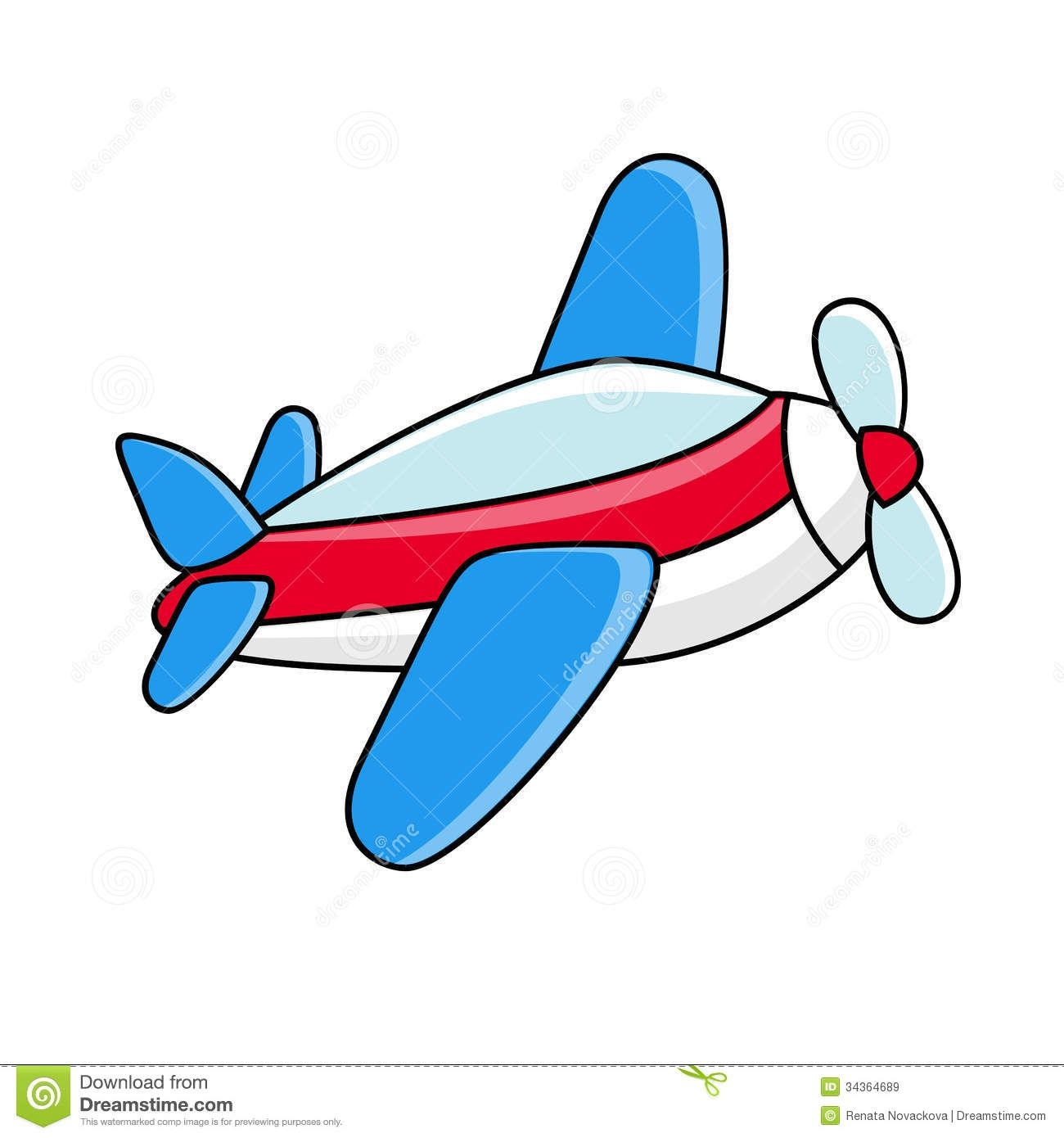 Toy Airplane Clipart Flying .
