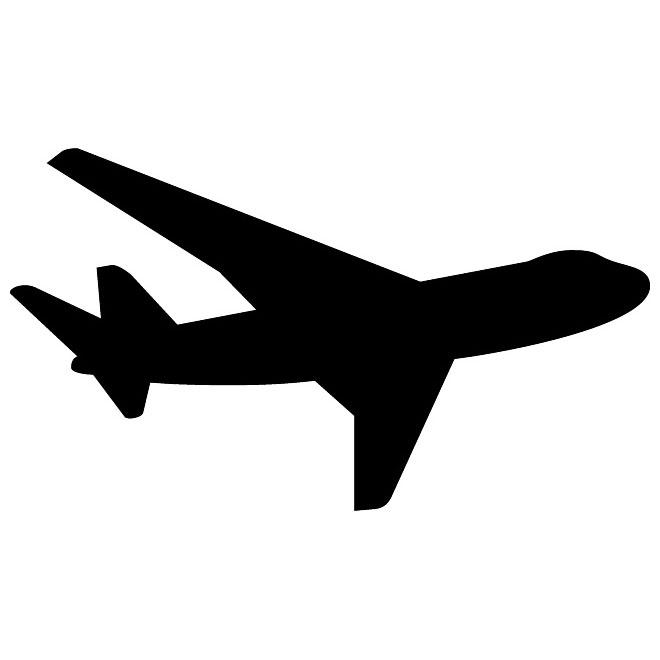 AIRPLANE SILHOUETTE VECTOR .-AIRPLANE SILHOUETTE VECTOR .-6