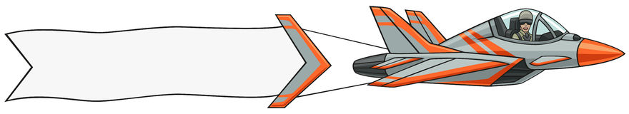 Airplane with Banner Clipart-Airplane with Banner Clipart-6