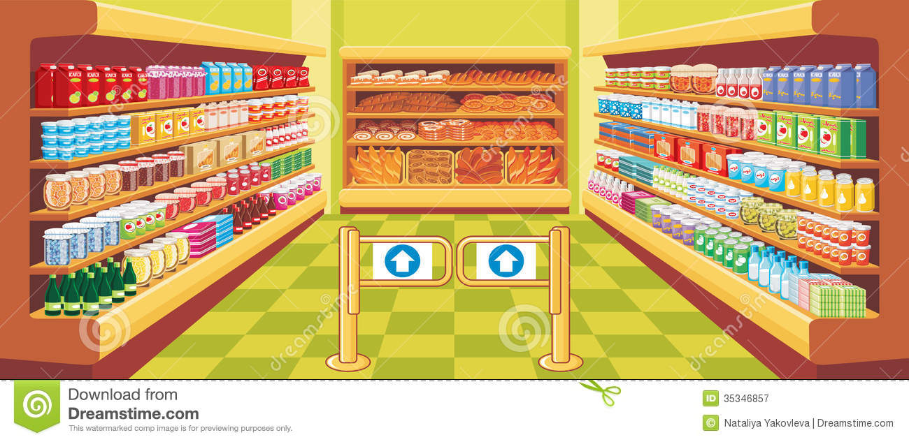aisle clipart - Grocery Store Clipart