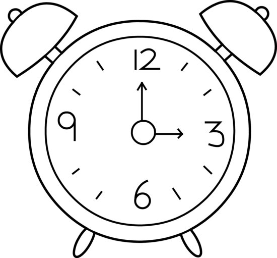 Clock Clipart Black And White & Look At Clip Art Images