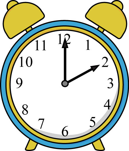 Alarm Clock Clip Art Image Blue And Yellow Alarm Clock
