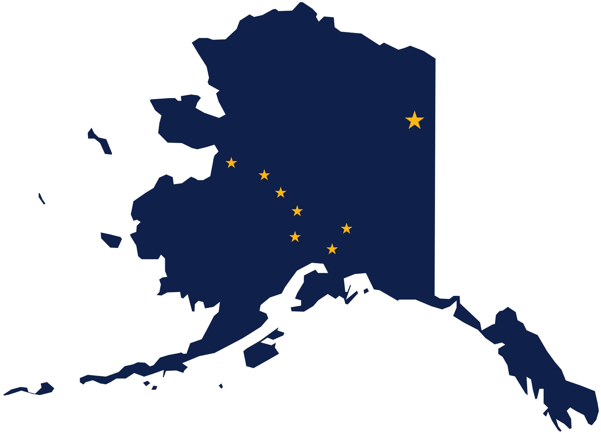 Alaska Clipart Flag Map Of Alaska 1969px Png