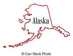 ... Alaska - Outline Of The State Of Ala-... Alaska - Outline of the state of Alaska isolated-15
