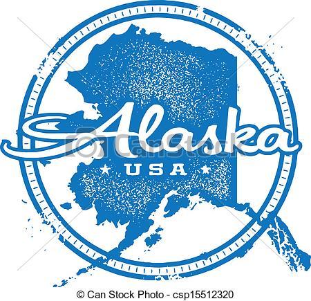 Alaska State Clipartby edna1/14; Vintage Alaska USA State Stamp - Vintage style distressed.