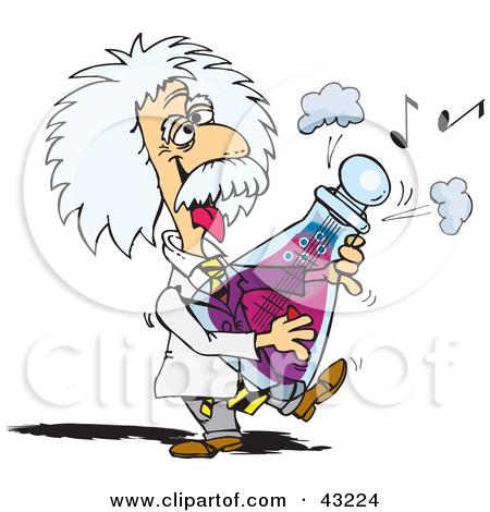 Albert Einstein Playing A Musical Flask -Albert Einstein Playing A Musical Flask by Dennis Holmes Designs-14