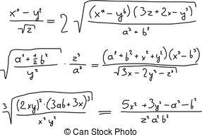 Algebra - Hand Written Scribble Illustra-Algebra - Hand written scribble illustration - mathematical.-10
