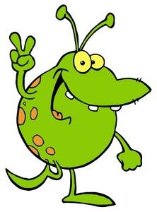 Alien Clipart Image Friendly  - Aliens Clipart