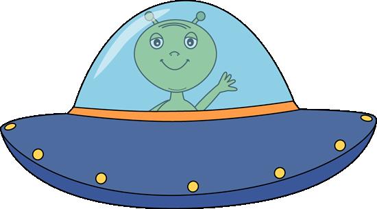Alien Flying UFO - Space Clip Art