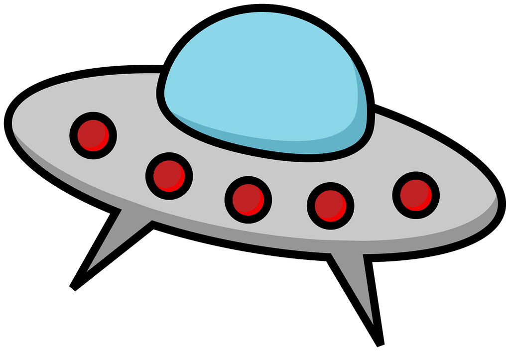 Alien In Spaceship Clip Art