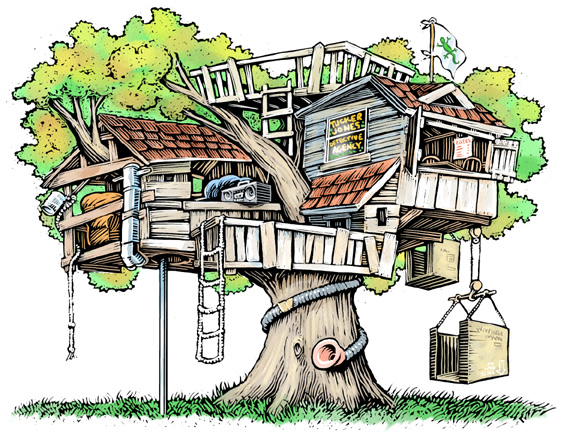 All Cliparts Treehouse Clipart