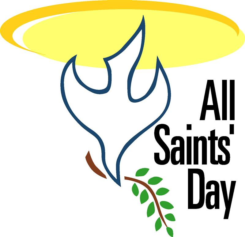 ... All saints day clip art ...