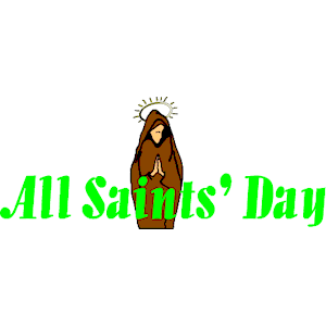 All Saints Day Clipart Wishes