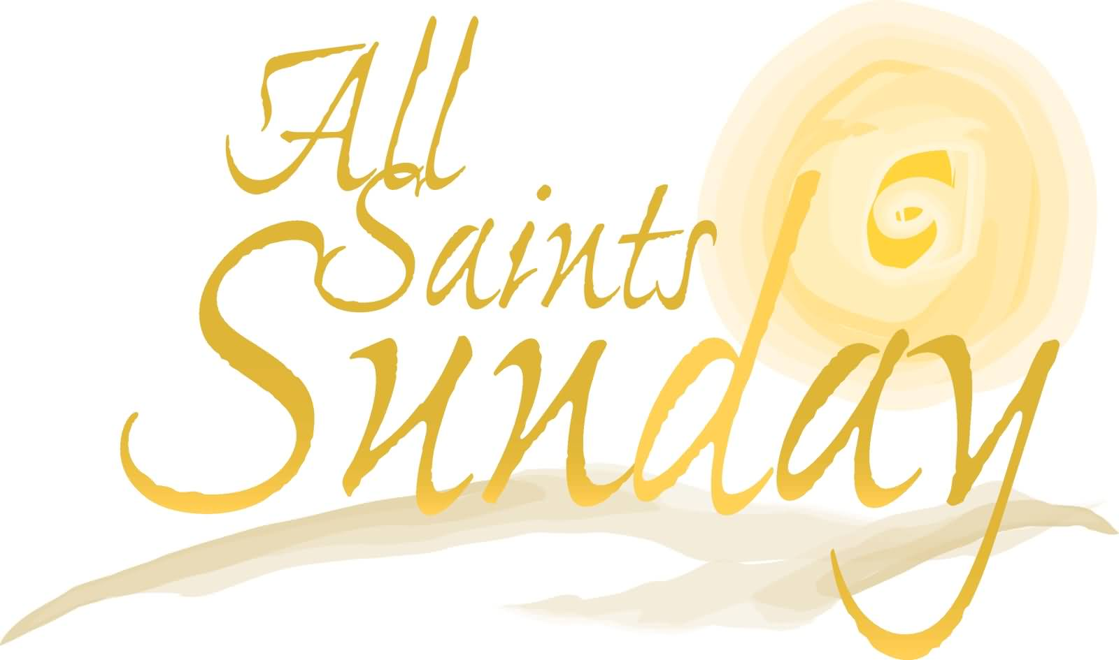 All Saints Day Sunday Clipart Wishes
