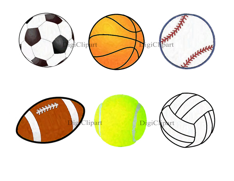 All Sports Balls Clipart #1