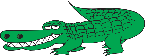 Alligator clip art free .